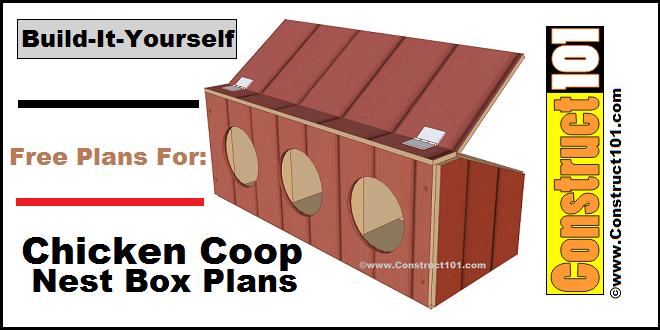 chicken coop nest box plans