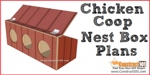 Chicken coop nest box plans - free PDF download.