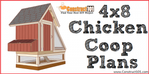 4x8 chicken coop plans - free PDF download - Construct101.