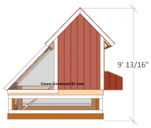 free 4x8 chicken coop plans back view
