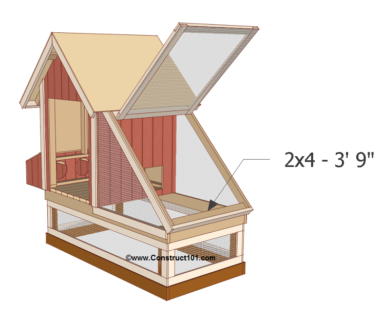Free 4x8 chicken coop plans door stop.