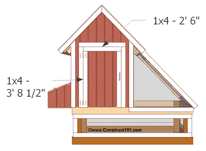 Free 4x8 chicken coop plans front door trim.