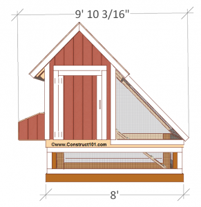 free 4x8 chicken coop plans front view