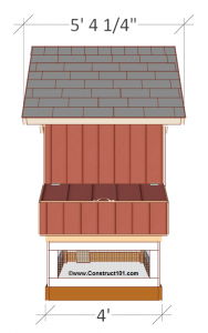 free 4x8 chicken coop plans side view.