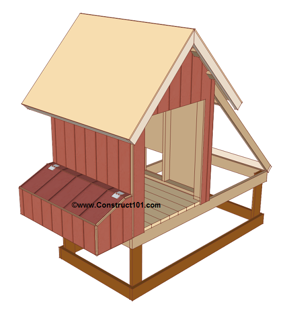 Free 4x8 chicken coop plans roof deck.