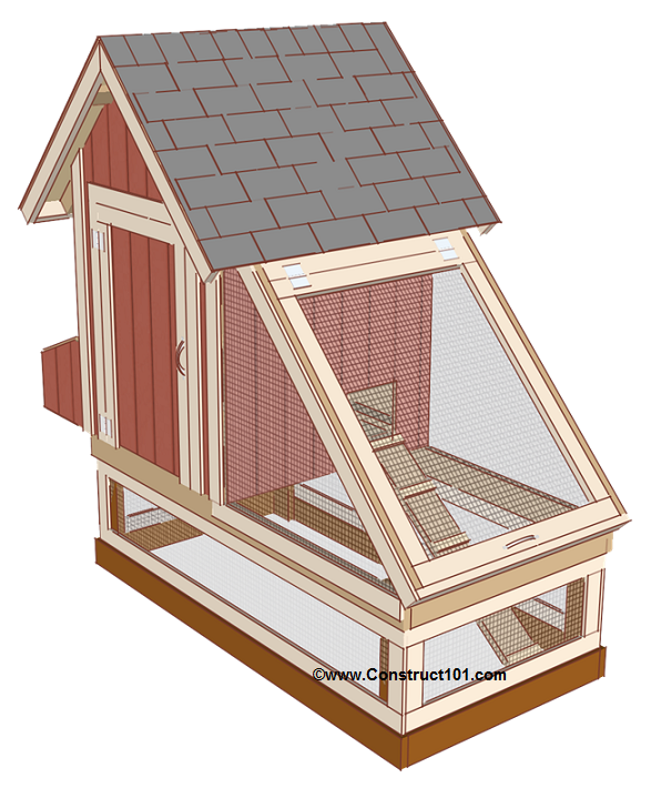 Free 4x8 chicken coop plans shingles roost.