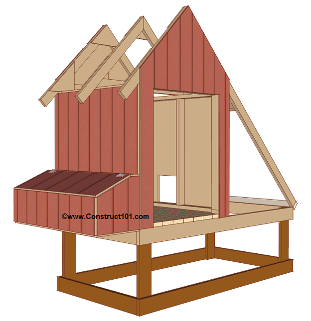 Free 4x8 chicken coop plans siding.