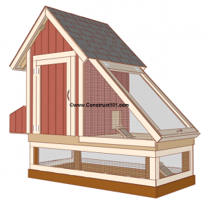 chicken coop plans design 1 view 2