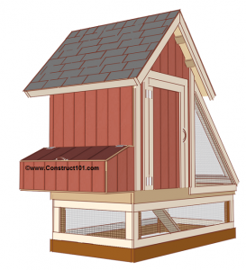 free 4x8 chicken coop plans view 1