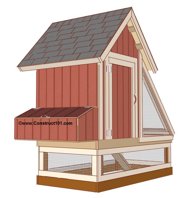 free 4x8 chicken coop plans view 1