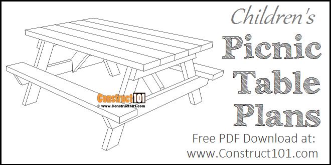 Children S Picnic Table Plans Construct101