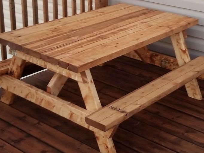 kids picnic table build