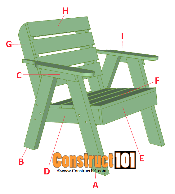 lawn chair plans parts listed