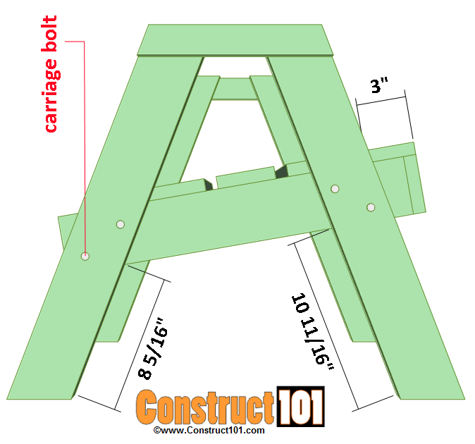 lawn chair plans seat installation