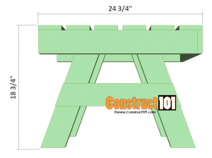 lawn chair table plans side overview