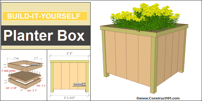 Planter Box Plans - PDF Download - Construct101