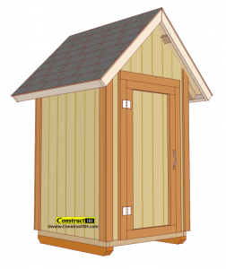 small garden shed plans, PDF download.