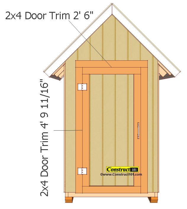 Small Garden Shed Plans 4 X4 Gable Shed Construct101