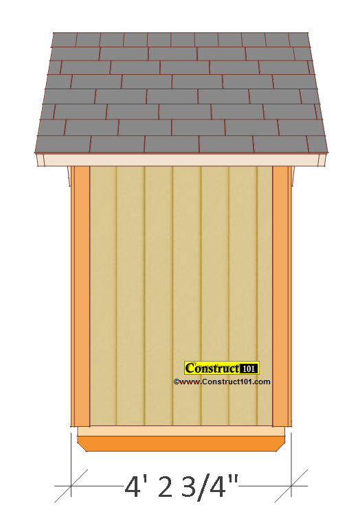 Left View Shed Measures 4 2 3 Measured From The Trim Small Plans