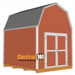 10x12 shed plans -gambrel shed