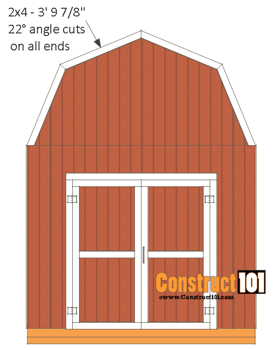 10x12 shed plans -gambrel shed - front back roof trim