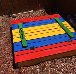 diy sandbox - lid closed