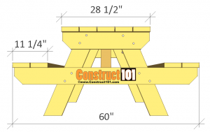 traditional picnic table plans side