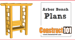 Garden arbor bench plans, free PDF download.