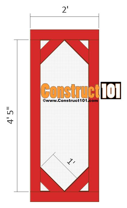 chicken coop run plans 8x4 door