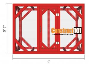 chicken coop run plans 8x4 side view