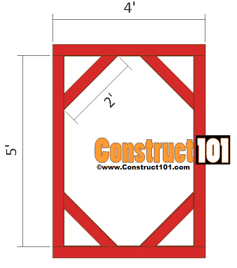 chicken coop run plans 8x4 side wall
