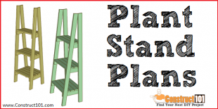 DIY plant stand plans - free PDF download - Construct101