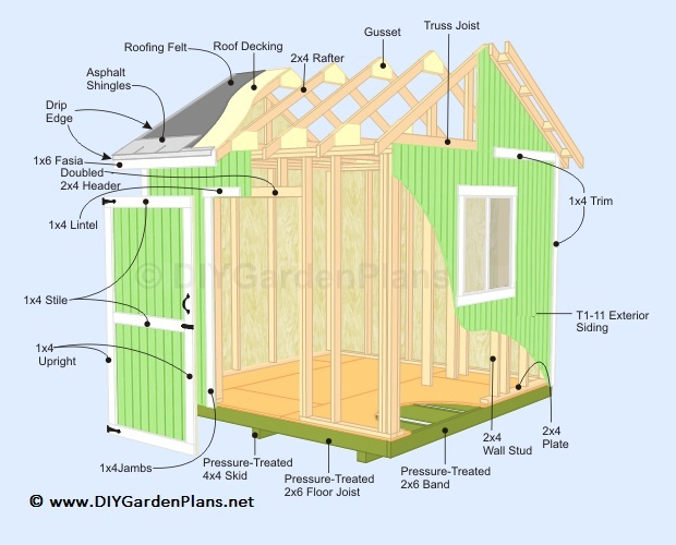 Potting shed plans construct101 for Potting shed plans free