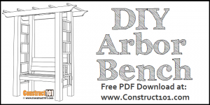 Garden arbor with bench, free PDF download.