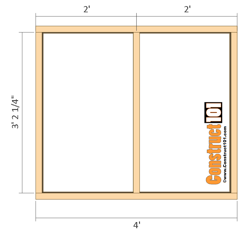 large dog house plans back wall