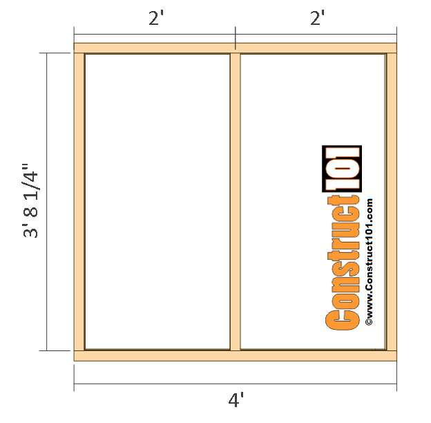 large dog house plans front wall