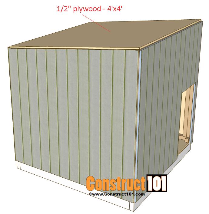 large dog house plans roof deck