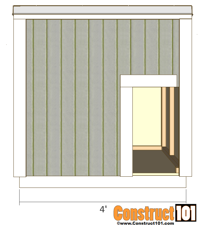large dog house plans side view side view front view