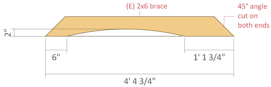 pergola 2x6 brace