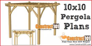 DIY 10x10 simple pergola