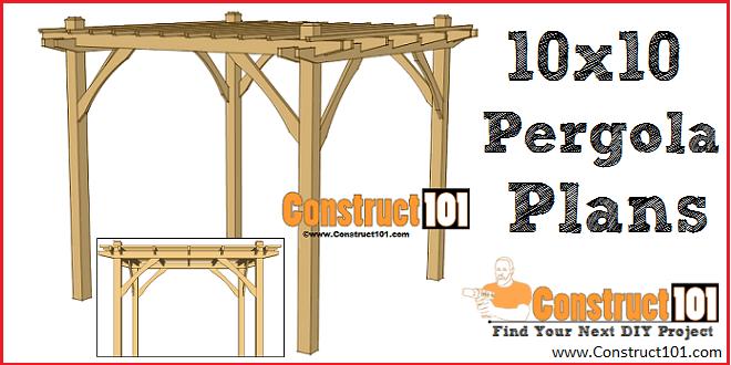 - Simple DIY Pergola Plans - Construct101