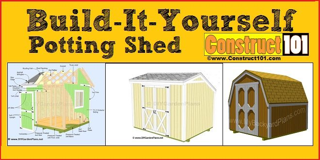 potting shed plans construct101