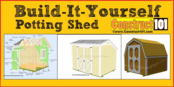Potting shed plans construct101 for Potting shed plans diy blueprints