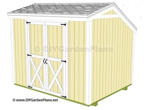 Potting shed plans construct101 for Salt shed plans
