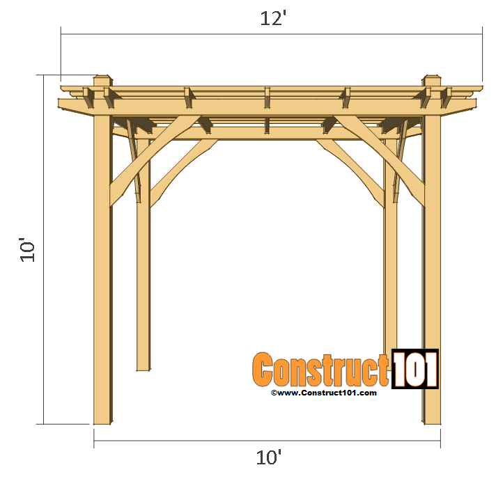 simple diy pergola plans construct101. Black Bedroom Furniture Sets. Home Design Ideas