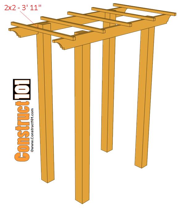step 4 garden arbor bench plans