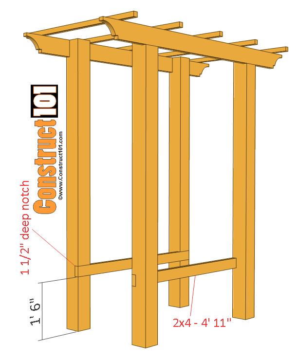 Garden Arbor Bench Plans - Construct101