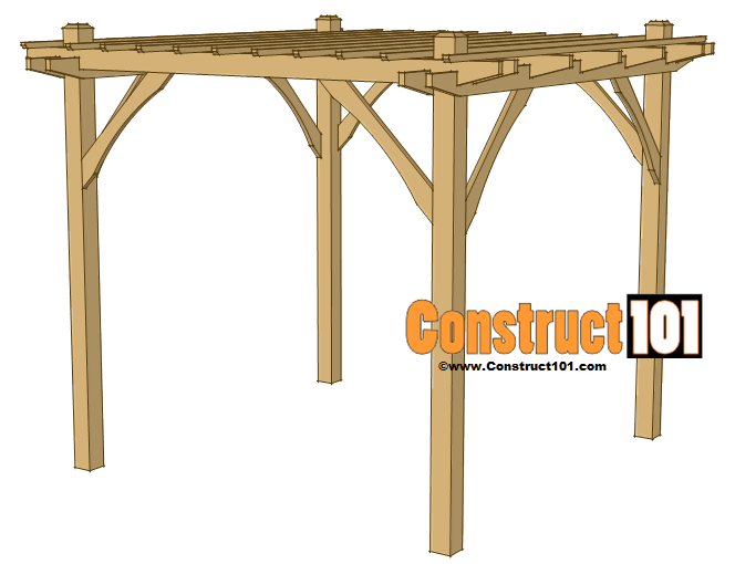 step 5 simple DIY pergola plans - Simple DIY Pergola Plans - Construct101