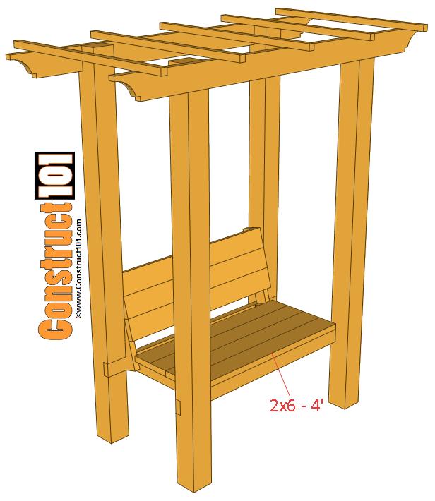 step 7 garden arbor bench plans