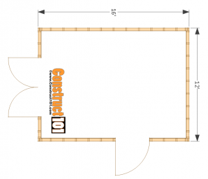 12x16 shed plans floor view